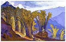 N. Roerich. Lao Tzu. 1924. Tempera on canvas, 73.6 x 117 cm Bolling Collection, Grand Haven, Michigan
